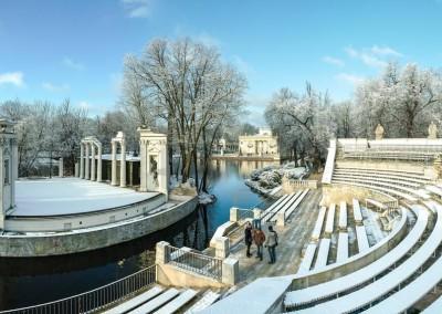 Łazienki_winter