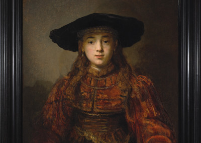© The Royal Castle in Warsaw - Museum, Girl in a Picture Frame, The Lanckoroński Collection - Rembrandt's Paintings