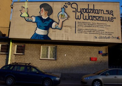 Marie Curie-Sklodowska mural, Good Looking Studio, photo: Magda Liwosz
