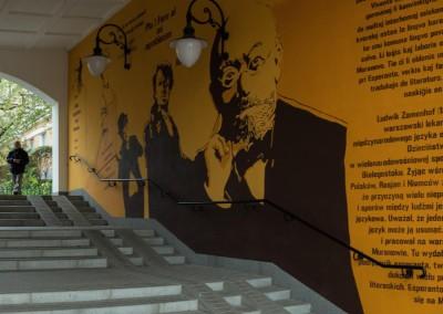 Korczak mural Stacja Muranów, photo: Filip Kwiatkowski, www.warsawtour.pl