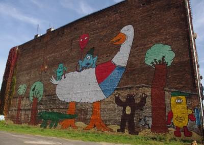 Warsaw Street Art, mural Praga, Diegomiedo,  photo: Magda Liwosz