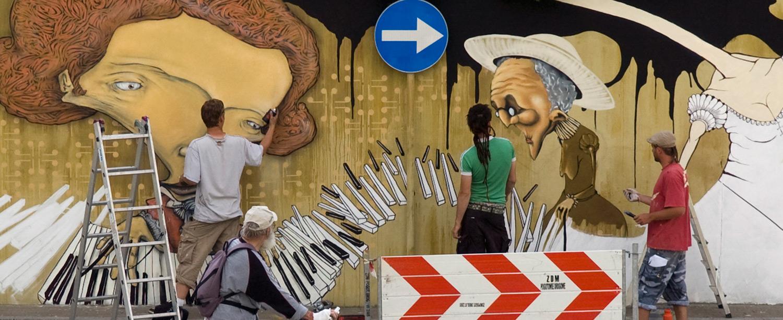 Warsaw Street Art - Chazme, Sepe, Lump (Elomelo) - Chopin