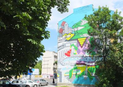 Warsaw Street Art - Goodlooking Studio,  photo: Jarek Zuzga / oknonawarszawe.pl