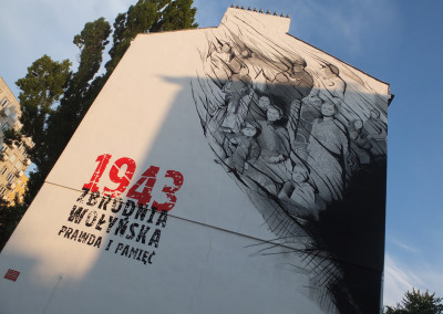 Warsaw Street Art - Mikołaj Ostaszewski - Wołyń, photo: Jarek Zuzga / oknonawarszawe.pl