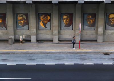Warsaw Street Art - Piotr Janowczyk - Gallery of personality of Warsaw culture, photo: Jarek Zuzga / oknonawarszawe.pl