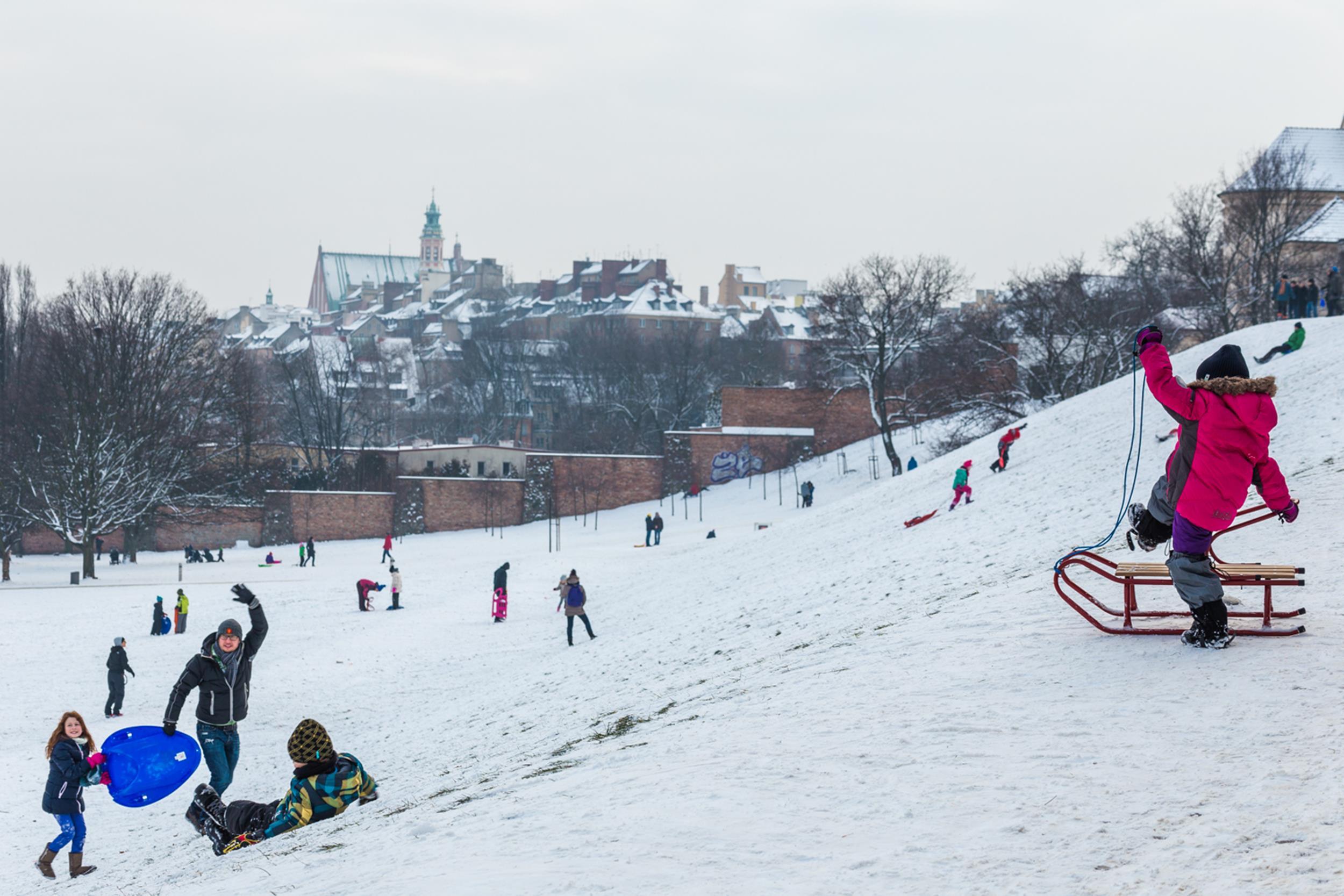 winter outdoor activities. Sleighing In Warsaw Winter Outdoor Activities H